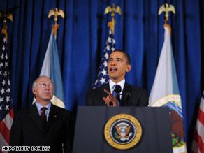 President Obama and Interior Secretary Ken Salazar