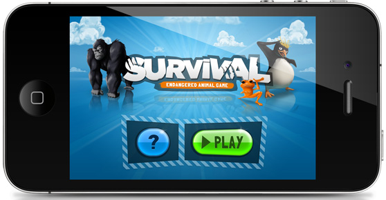 Survival app screenshot
