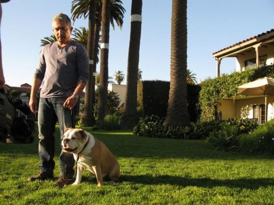 Cesar Milan and bulldog
