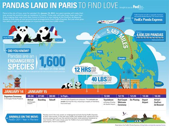 FedEx panda infographic