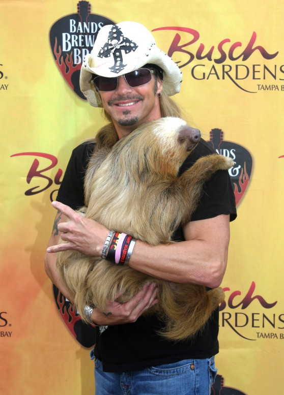 Bret Michaels and Harry the sloth